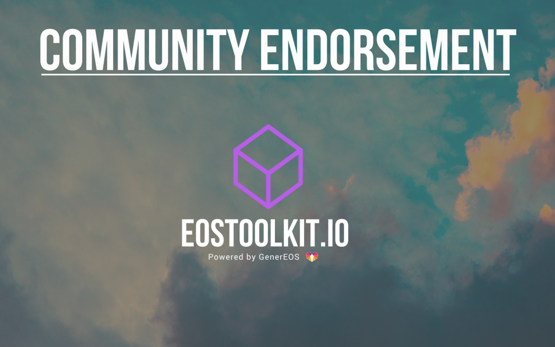 EOSToolkit.io – Third Party Endorsements