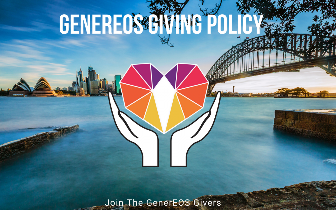 GenerEOS – Charity & Community Projects Giving Policy