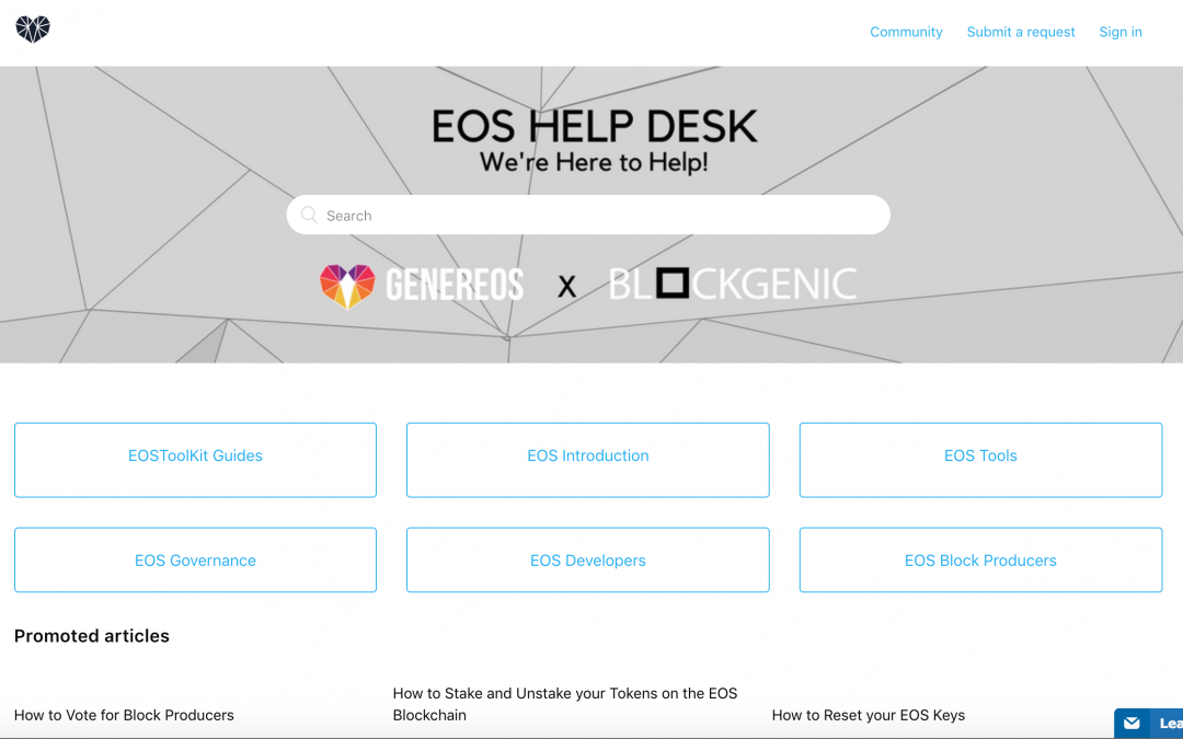 EOS Help Desk – GenerEOS x Blockgenic