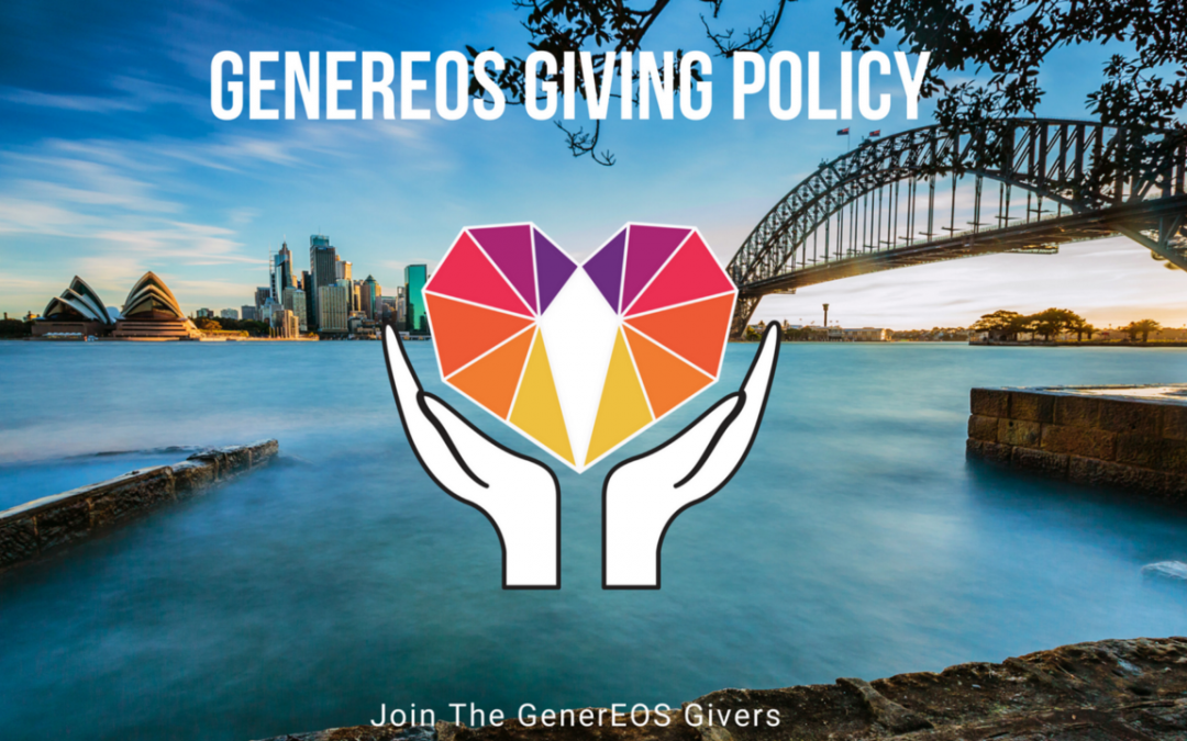 GenerEOS — Charity & Community Projects Giving Policy